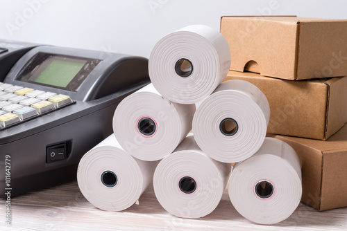 Electronic Cash Register and lot of paper roll - Buy this