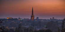 Sunset Over Norwich From Mouse...