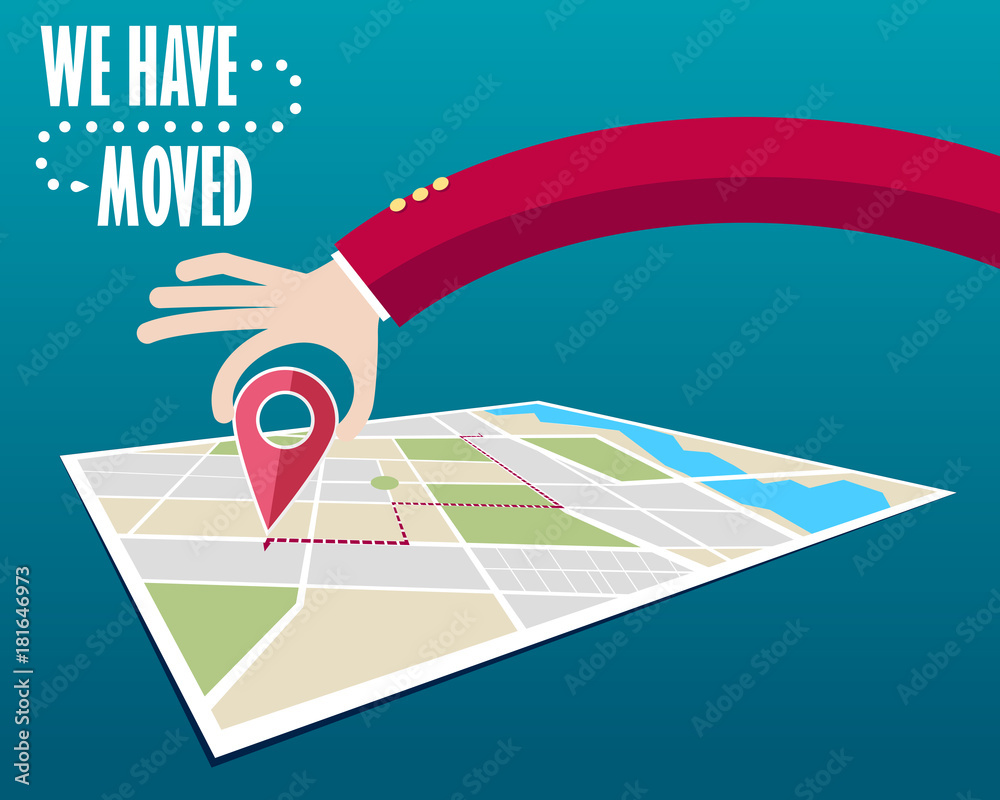 Fototapety, obrazy: We have moved, changed address