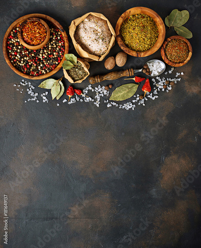 Canvas Prints Spices Various type of herbs and spices