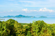 Beautiful Phuket view from Khao-Khad Views Tower, enjoy the 360-degree view such as Chalong bay, Panwa cape, Sire island, Bon island, tiny and large islands around Phuket including Phuket city