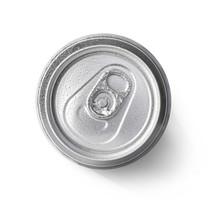 Metallic Can On White Background
