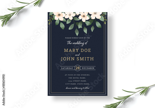 invitation lay out