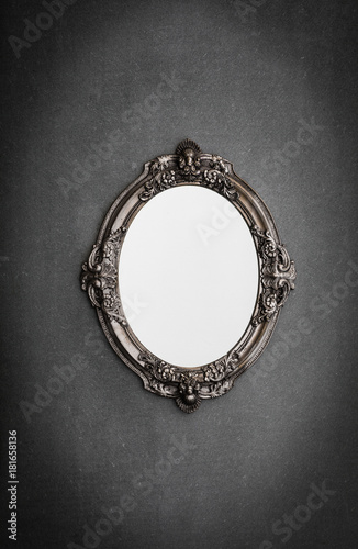Cuadros en Lienzo baroque, Victorian mirror on a gray wall