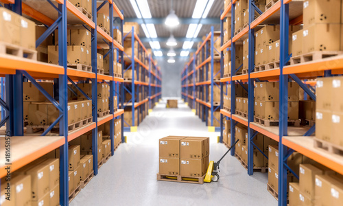 Obraz warehouse indoor view - fototapety do salonu