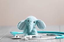 Toy Elephant And Stethoscope O...