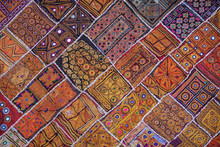 Traditional Indian Wall Tapestry In Rajasthan India