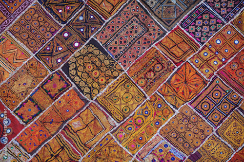 Traditional Indian Wall Tapestry in Rajasthan India Fototapet