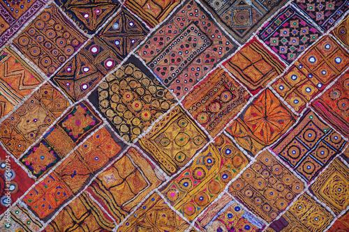 Slika na platnu Traditional Indian Wall Tapestry in Rajasthan India