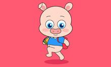Pig Go To School