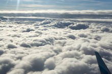 Over The Clouds. Photo From Plane.