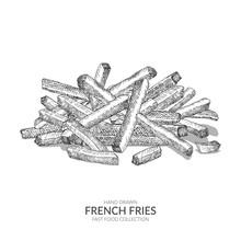 Hand Drawn French Fries Illust...