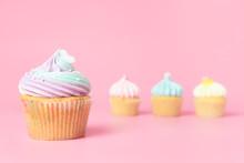 Rainbow Heart Cupcake With Thr...