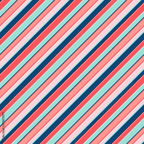 Cotton fabric Colorful diagonal stripes seamless pattern for kids. Vector lines texture, trendy colors. Baby pattern. Girls pattern.
