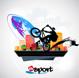 Bicycle jumper, sport vector