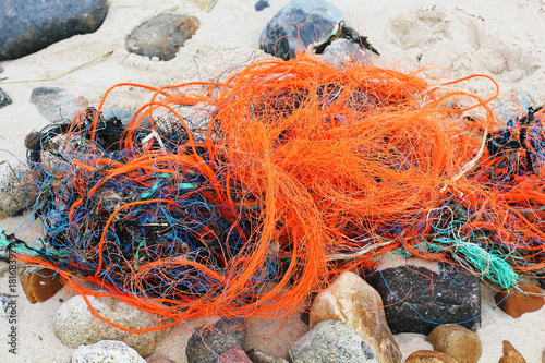Valokuva  Plastic waste on the beach