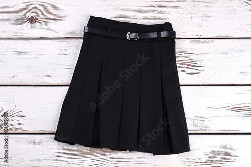 Carta da parati Pleated black uniform skirt