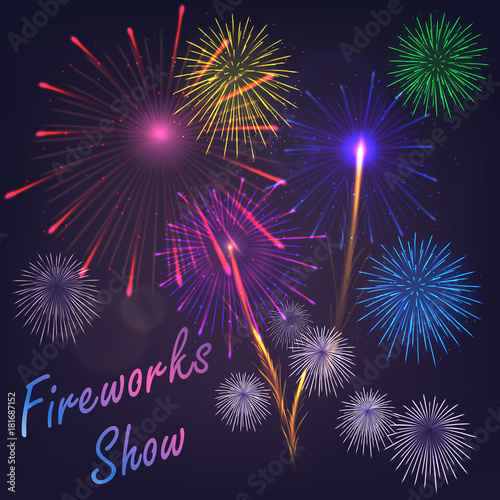 vector fireworks template poster buy this stock vector and