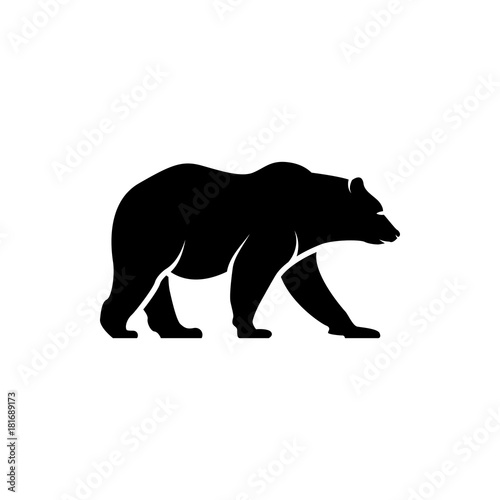 Photo  vector bear silhouette