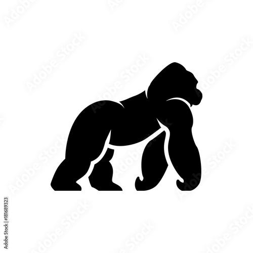 vector gorilla silhouette Canvas Print