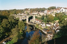 View Of Knaresborough, Yorkshire, From The Castle.