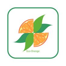 Orange Fruit Logo Template. Or...