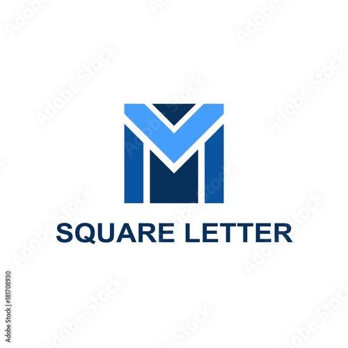 Abstract Square Logo Wallpaper Mural