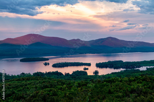 Lake George twilight Canvas Print