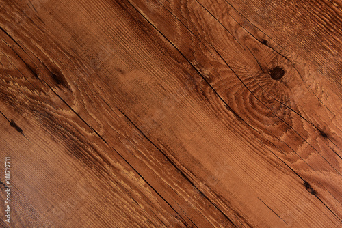 Fototapeta Rustic brown wooden background obraz na płótnie