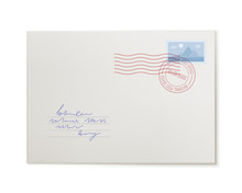 Mail Envelope, Front View, Iso...