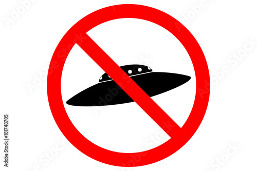 Photo  NO UFO ALLOWED sign