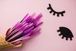 canvas print picture - The brush lash, comb, help to keep the shape, also used in eyelash extension application