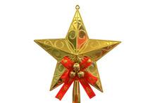 Gold Glitter Star Decoration O...