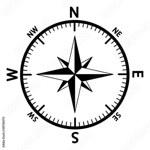 Fotografía  The emblem of the compass rose.