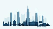 Chicago Skyline Buildings Vector Illustration