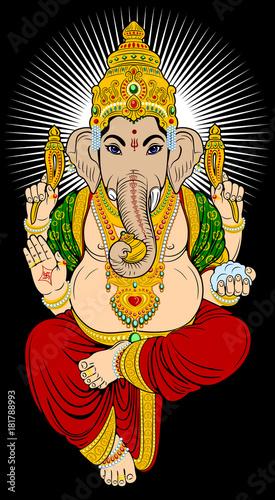 Fotografie, Obraz  Portrait of the deity of Ganesha