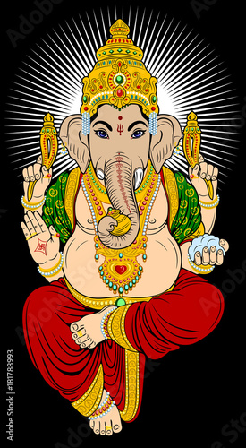 Photo Portrait of the deity of Ganesha