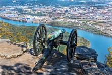 Civil War Cannon Overlooking C...
