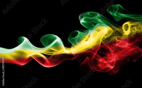 Valokuva  Ethiopia national smoke flag