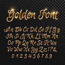 Calligraphic Golden Letters. V...