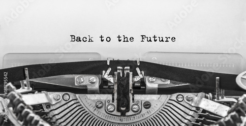 Back to the Future typed words on a old Vintage Typewriter Tablou Canvas
