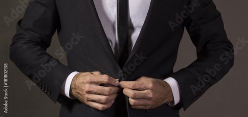 Photo Close up of a gentleman in business attire.Studio shot
