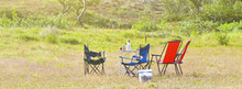 Camping Site With Camp-chairs ...