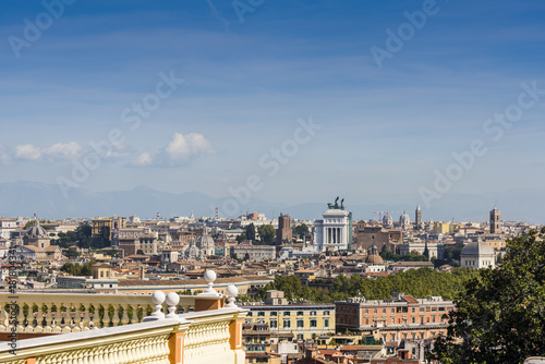 Photo  Panoramic view of Rome on a sunny day