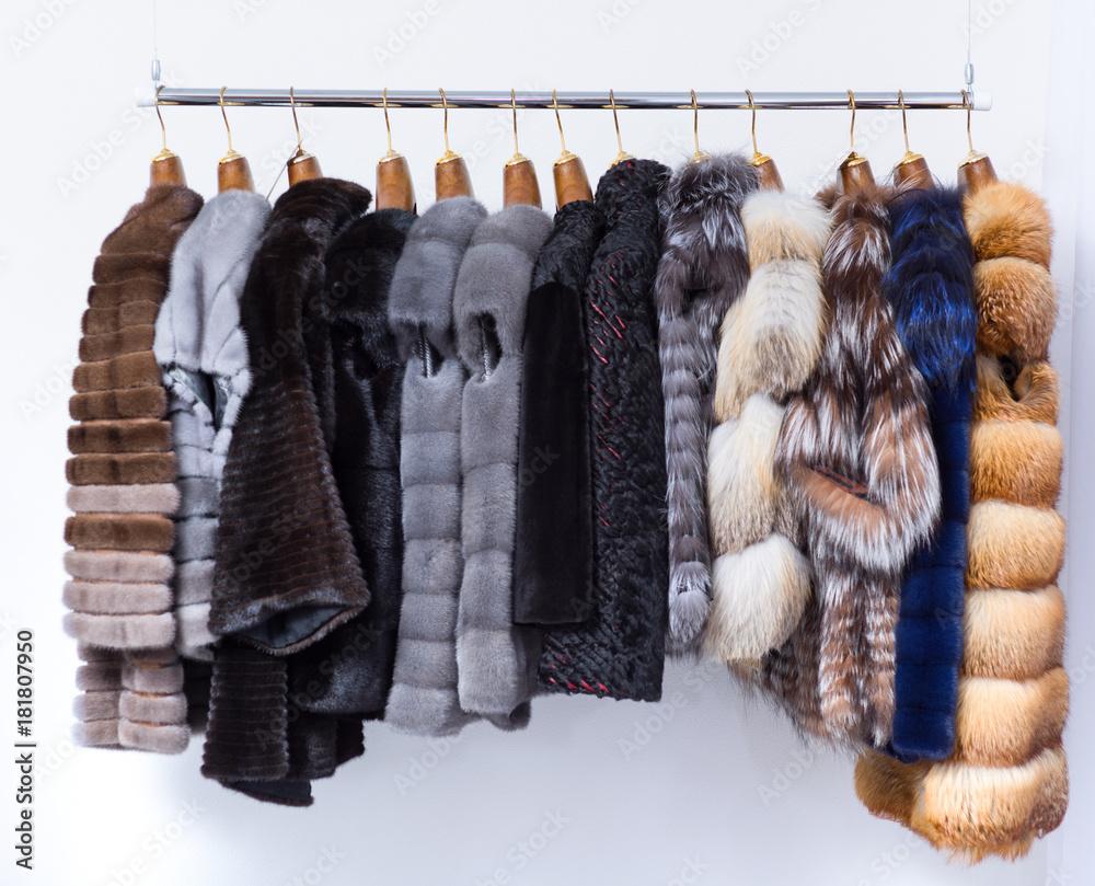 Fototapeta Fur coats.