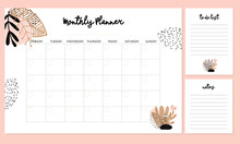 Cute Monthly Planner With Flow...