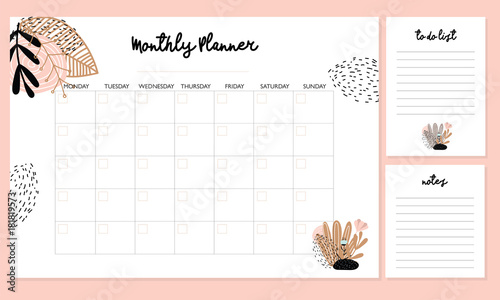photo regarding Cute Printable to Do List titled Lovely Regular Planner with bouquets, towards do record, notes