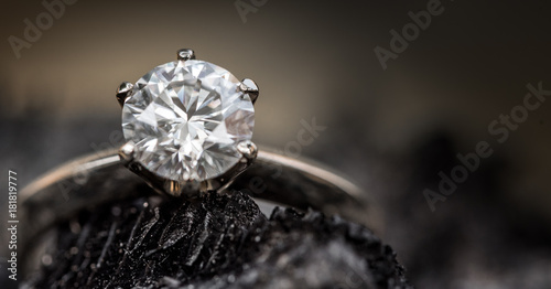 Diamond ring Fototapet