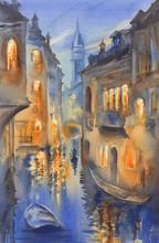 Venetian Lights Watercolor