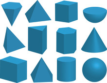 Basic 3d Geometric Shapes. Geo...